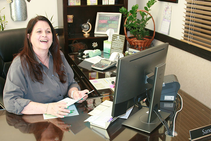 See our branch manager, Sandy, for exceptional service.