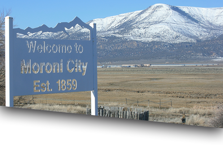 Welcome to Moroni City sign