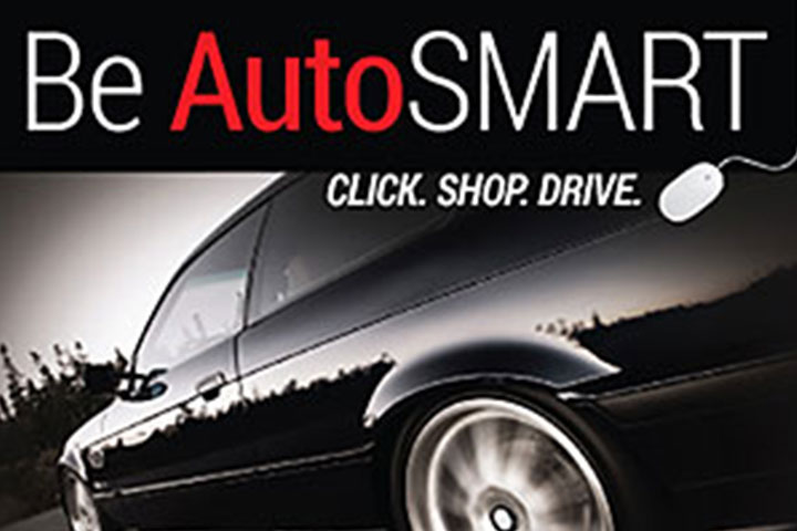 Black car ad about ``Be Auto Smart)``