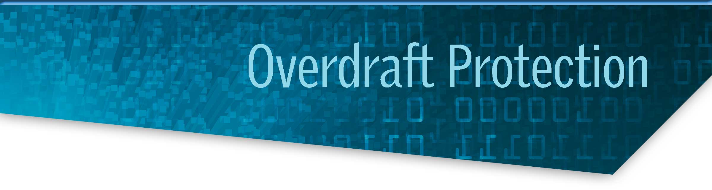 Overdraft Protection on a blue computer screen