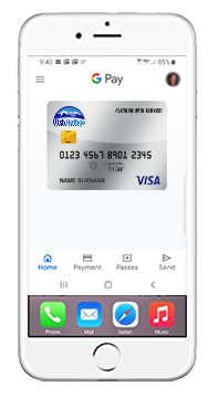google pay app illustrated on generic cell phone