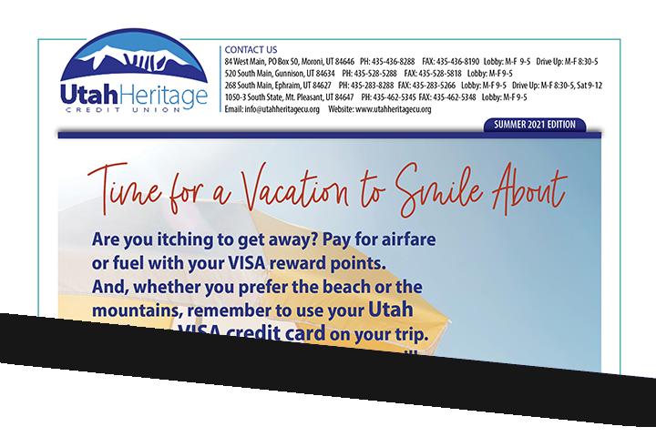 Utah Heritage Credit Union Newsletter